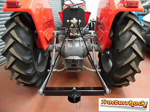 *A Frame 3 Point Tow Hitch - Small Tractor Mounted Towing Cat 1 Ball & Pin*