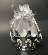 12PC Baby Shower Favors Fillable SilverCrown Party Decorations Girl Boy Princess