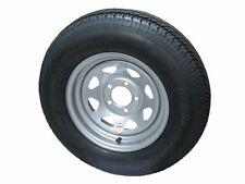 """*2* 175/80D13 LRC Kenda K558 Bias Trailer Tires on 13"""" 5 Lug Silver Spoke Wheels"""