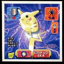 POKEMON STICKER Carte JAPANESE 50X50 1997 NORMAL N° 228 PIKACHU