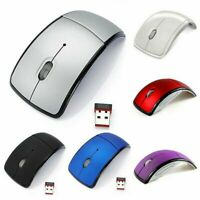 2.4Ghz Wireless Mouse Foldable Folding Optical Mice Receiver For Laptop USB H0W5
