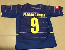 Men's VTG 2004 Lotto FALCAO #9 Colombia National Team Blue Sz M Soccer Jersey