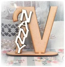 Wooden Letter N With Nanny on Nan Grandmother Mothers Day Gift Present