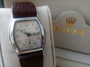 SUPERB INCREDIBLY RARE GENTS  SNOWITE 1948 ROLEX WATCH, GREAT CONDITION AND BOX