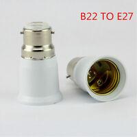Bayonet BC B22 To ES E27 Screw Light Bulb Lamp Adaptor Converter Holder New