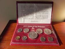 1973 Coins Of The Bahamas Uncirculated Specimen Set In Original Folder, 2.87 oz
