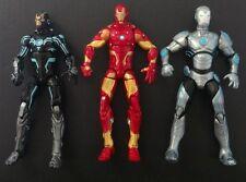 "Marvel Universe Infinite lot of 3 Iron Man 3.75"" MINT Loose display figures"