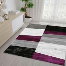Teppich Geometrisches Muster Meliert in Lila Grau Weiß und Schwarz
