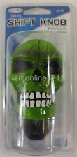 Custom Accessories 23179 Skull Style Gear Shift Knob Universal Fit - GREEN Color
