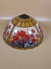 "Tiffany Style Vintage Light Shade Unusual Design Poppy's Smart Design 15"" wide"