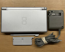 Nintendo DS Lite Metallic Silver Handheld Console with Official Charger - MINT