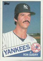 FREE SHIPPING-MINT-1985 Topps #790 Ron Guidry Yankees PLUS BONUS CARDS