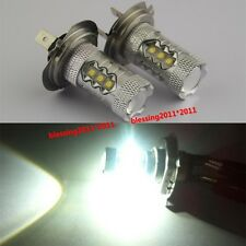 2pcs Super White 80W H7  LED Bulbs Fog Light Lamps Low Beam Headlight for Audi A