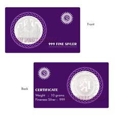 Laxmi, Ganesh & Saraswati Pure Silver Coin 32 mm Diwali Puja Sikka for Wallet