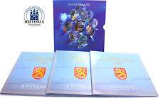 Finnland 3 x 3,88 Euro 1999 - 2001 stgl. KMS 1 Cent - 2 Euro Tripple im Folder