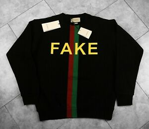 Gucci Pullover mit Fake/Not-Print Sweatshirt