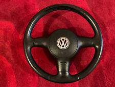Vw Polo Gti 6n2 Steering Wheel With  Red Stitching