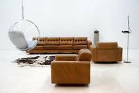 4er Sofa + 2x Sessel De Sede Lounge Leder Sitzgruppe chair DS 40