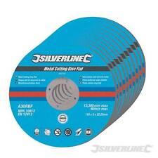 Silverline Corte De Metales plana discos 115x 3x22.2mm Molienda mpa aprobado 447131SH2
