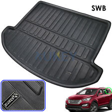 For Hyundai Santa Fe 7 seater 2013-2018 Trunk Cargo Boot Liner Mat Floor Carpet