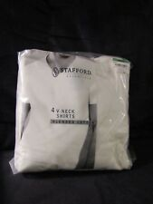 STAFFORD ESSENTIALS V NECK SHIRTS LARGE JCPENNEY 4 PACK BRAND NEW IN PACKAGE
