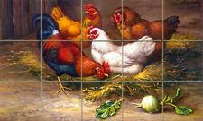 Mural Ceramic Rooster Countryside Backsplash Tile #140