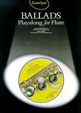 Guest Spot BALLADS for Flute Sheet Music Book + CD POP ERIC CLAPTON JOHN LENNON