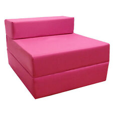 Pink Fold out Guest Sofa Z Bed Sleeping Mattress Studio Student Indoor Outdoor Single Splashproof
