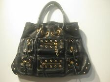 "Jennifer Lopez JLO ""Rock This"" Hobo Black Genuine Leather Women's Handbag Tote"