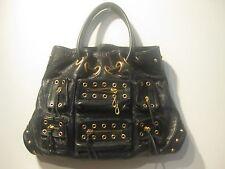 "Jennifer Lopez JLO ""Rock This"" Hobo Black Genuine Leather Women's Handbag Tote"