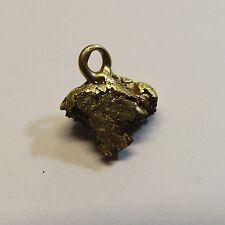 22k-24k Natural Gold Placer Alaskan Nugget Charm Pendant 2.8 gr