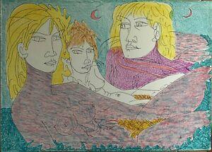 TONO ZANCANARO litografia a colori Sirene 70x50 firmata numerata