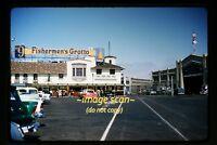 1956 San Francisco, Fishermen's Grotto and Cars, Original Kodachrome Slide d8a