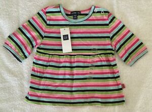 Baby Gap Baby Girl Striped Retro Dress Size 00 (3-6 Months)  BRAND NEW WITH TAG