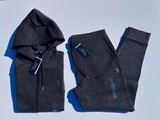 NEW Men Polo Ralph Lauren Double Knit Sweatpant HOODIE SET  Soft Cotton Jogger