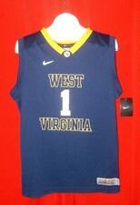 West Virginia Mountaineers #1 Nike Elite Navy WVU Basketball Jersey YOUTH XL