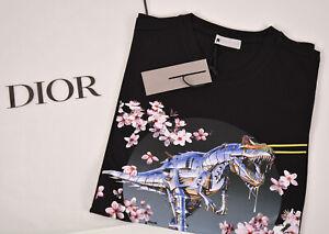 Genuine Dior T-shirt Sorayama Dinosaur Print Size XL