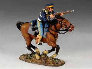 King & Country TRW001 Mounted Dragoon with Rifle - RETIRED - Mint in the Box
