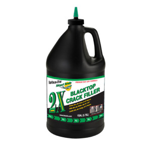 Blacktop Crack Filler Asphalt Repair Sealant Patch Fast-Dry 2X Premium 1 Gal New