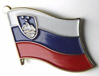 SLOVENIA SINGLE FLAG LAPEL LAPEL PIN BADGE 1 INCH