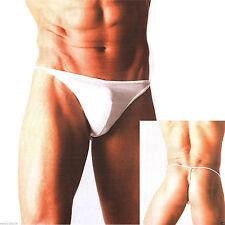 Sexy Men White Lycra/Spandex String Thong Underwear(fit  L & XL size) N40072