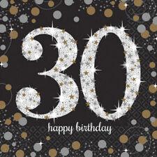 30. Geburtstag Servietten Zahl 30 Servietten Geburtstag  Deko NEU