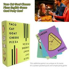 Taco Cat Goat Cheese Pizza English Game Card Party Card