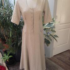 RODIER robe femme longue polyester beige kaki manche courte Taille 38