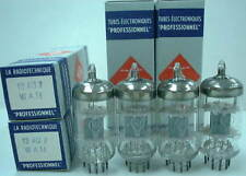 4 pcs NOS RT(Radio Techinque)12AU7WAH Audio Tubes w/Twin Supports Made in FRANCE