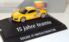 Herpa Audi R8 15 jahre TEAMIX Solide IT-Infrastruktur 1:87 PC + OVP (R2_5_F)