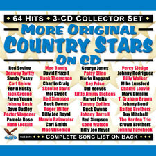 Original Country Stars On CD by Various Artists (CD, Jun-2017, 3 Discs, Gusto (Dance/Club-House Label))