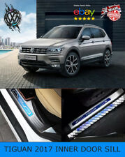 VW TIGUAN Mk2 2017-2018 INNER DOOR SILL SCUFF PLATE GUARD TRIMS PROTECTOR (UK)