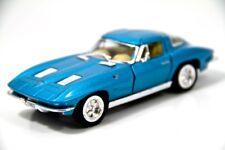 """Kinsmart 5"""" 1963 Chevy Chevrolet Corvette Stingray Diecast Model Toy 1:36 Blue"""