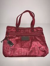 Coach Poppy Pink Story Patch Glam Shoulder Bag Tote